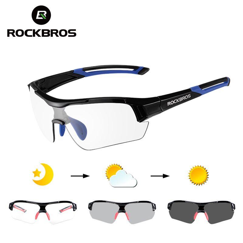 ROCKBROS Photochromic Cycling Sunglasses Eyewear UV400 MTB <font><b>Road</b></font> Bicycle Myopia Goggles For Women Men Outdoor Sports Bike Glasses