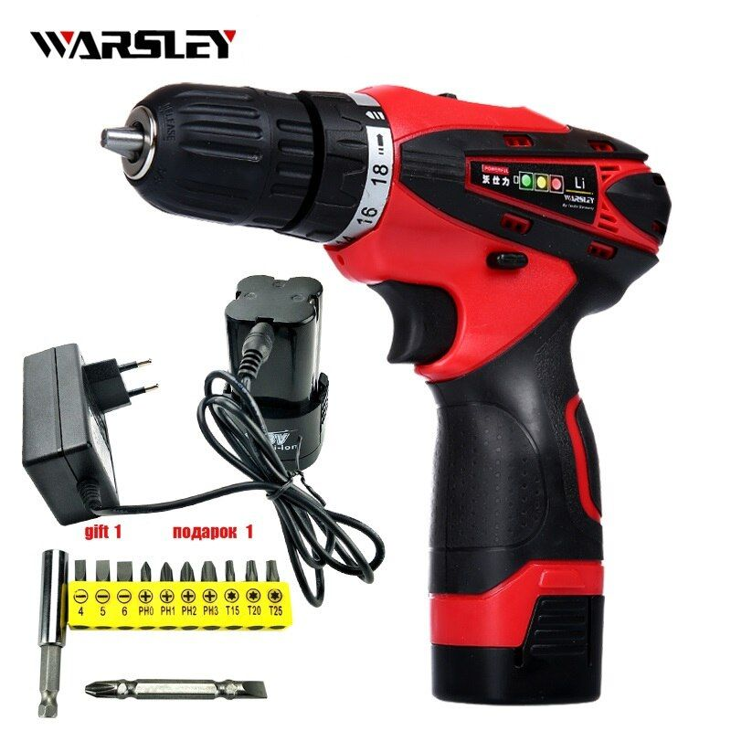 16.8V Batteries Screwdriver electric drill Power Tools Cordless rechargeable li ion Drill electric Screwdriver torque drill