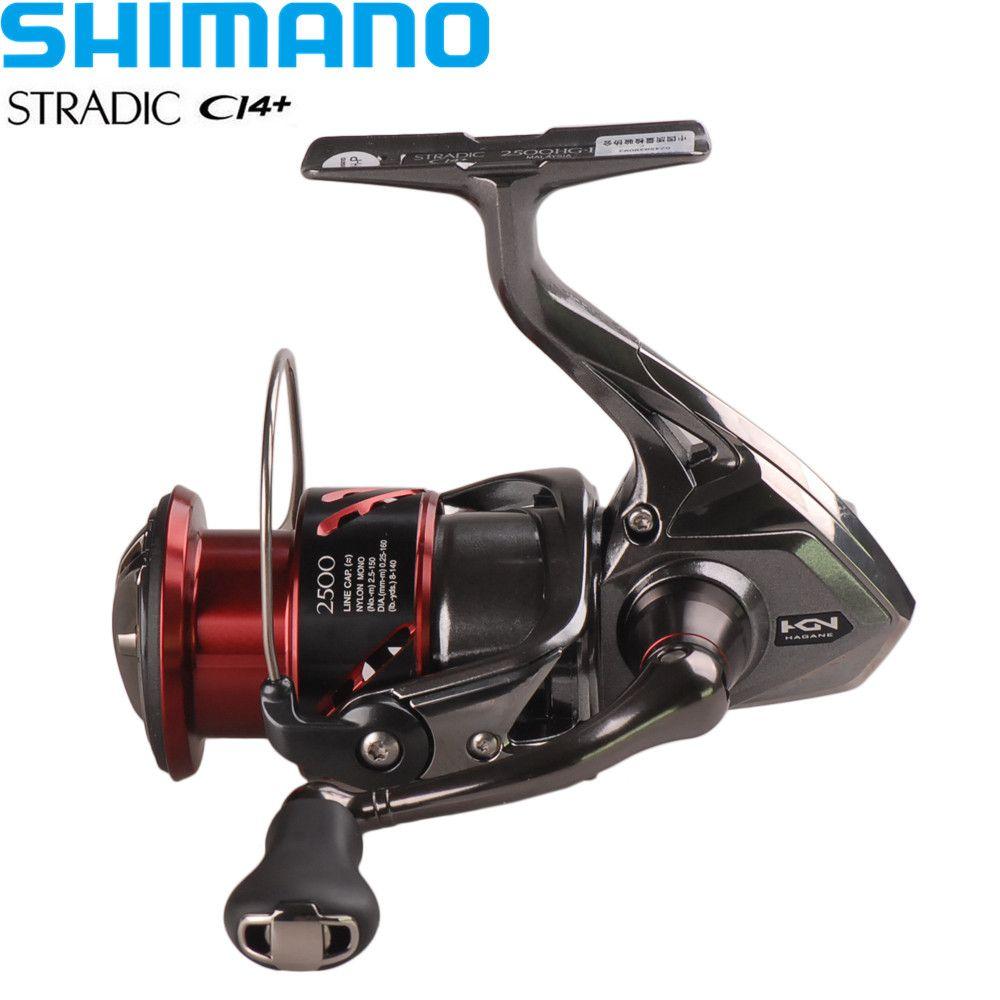 Shimano Reel STRADIC CI4+1000HG/2500HG/C3000HG 6.0:1/6+1BB Hagane Gear X-Ship Saltwater Spinning Fishing Reel Moulinet Peche