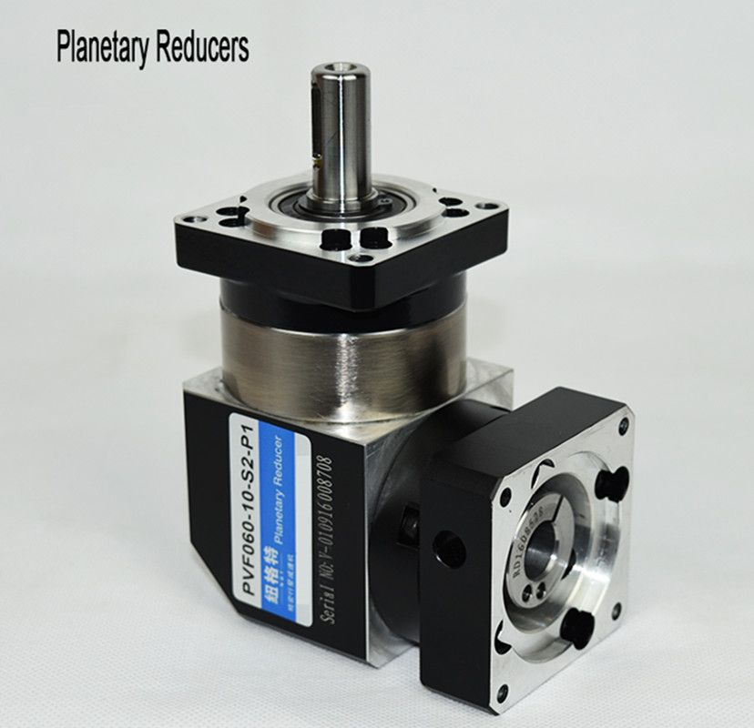 PVF60-L1 60mm 90 degree right angle planetary gearbox reducer Ratio 3:1 to 10:1 for 400w 60 AC servo motor