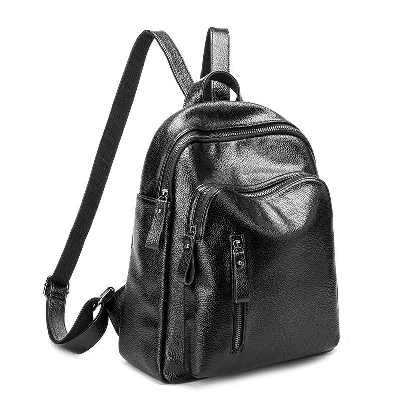 2018 neue Vintage Leder Rucksack Weiblichen Schulter Tasche Rucksack Weiche Große Kapazität Frauen Rucksack Aus Echtem Leder Mode C691
