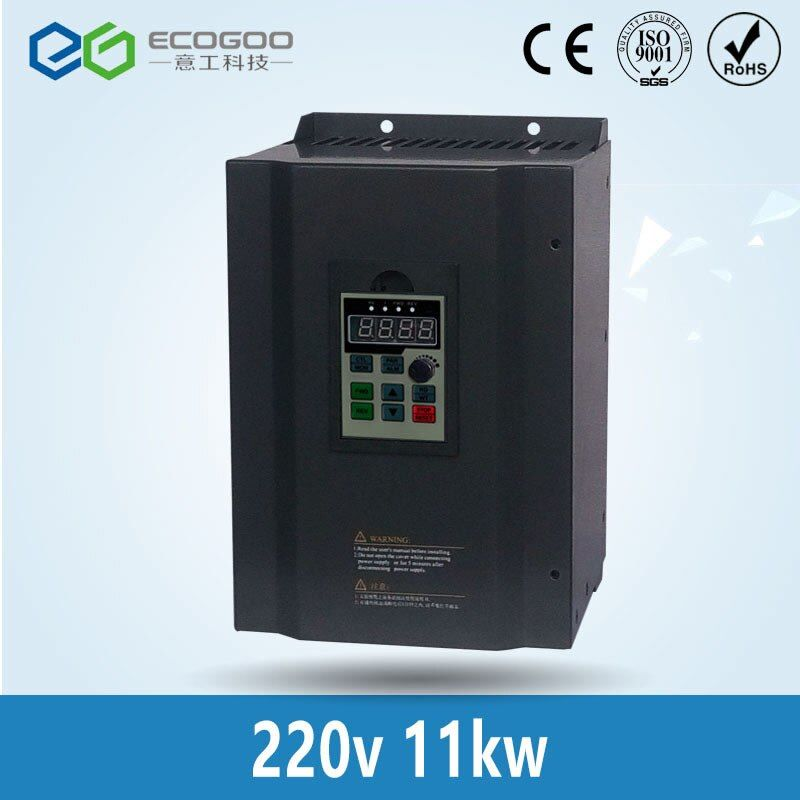 11KW 220 V 1 oder 3 phaseneingang und 220 V 3 phase ausgang ac motorantrieb/frequenzumrichter