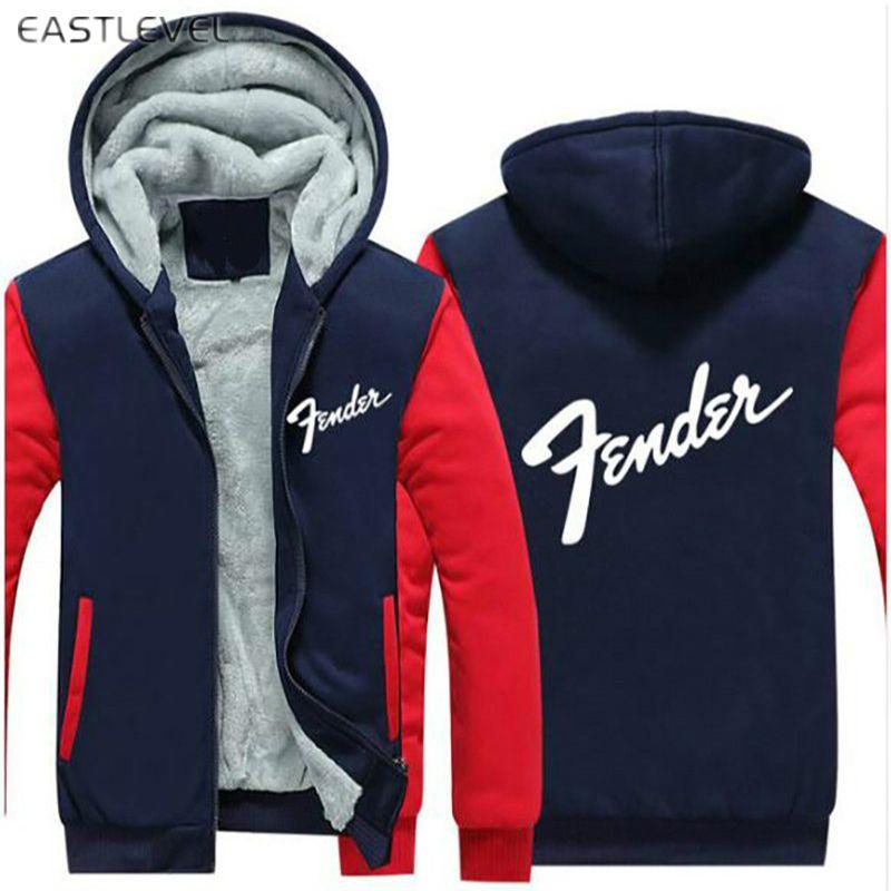 Heiße Verkäufe Fender Musical Hoodie Hip Hop Sweatshirt Jacke Winter Streetwear Fleece Verdicken Kapuzenmantel Dropshipping plus 6