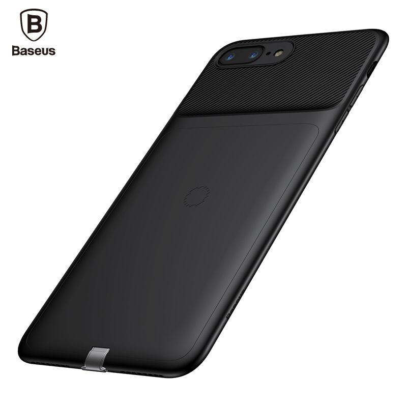 Baseus Universal Qi Wireless Charger Receiver 8pin Fast Charging Mobile Phone Case For iPhone 8 7 Plus Cover Coque Capinhas Capa