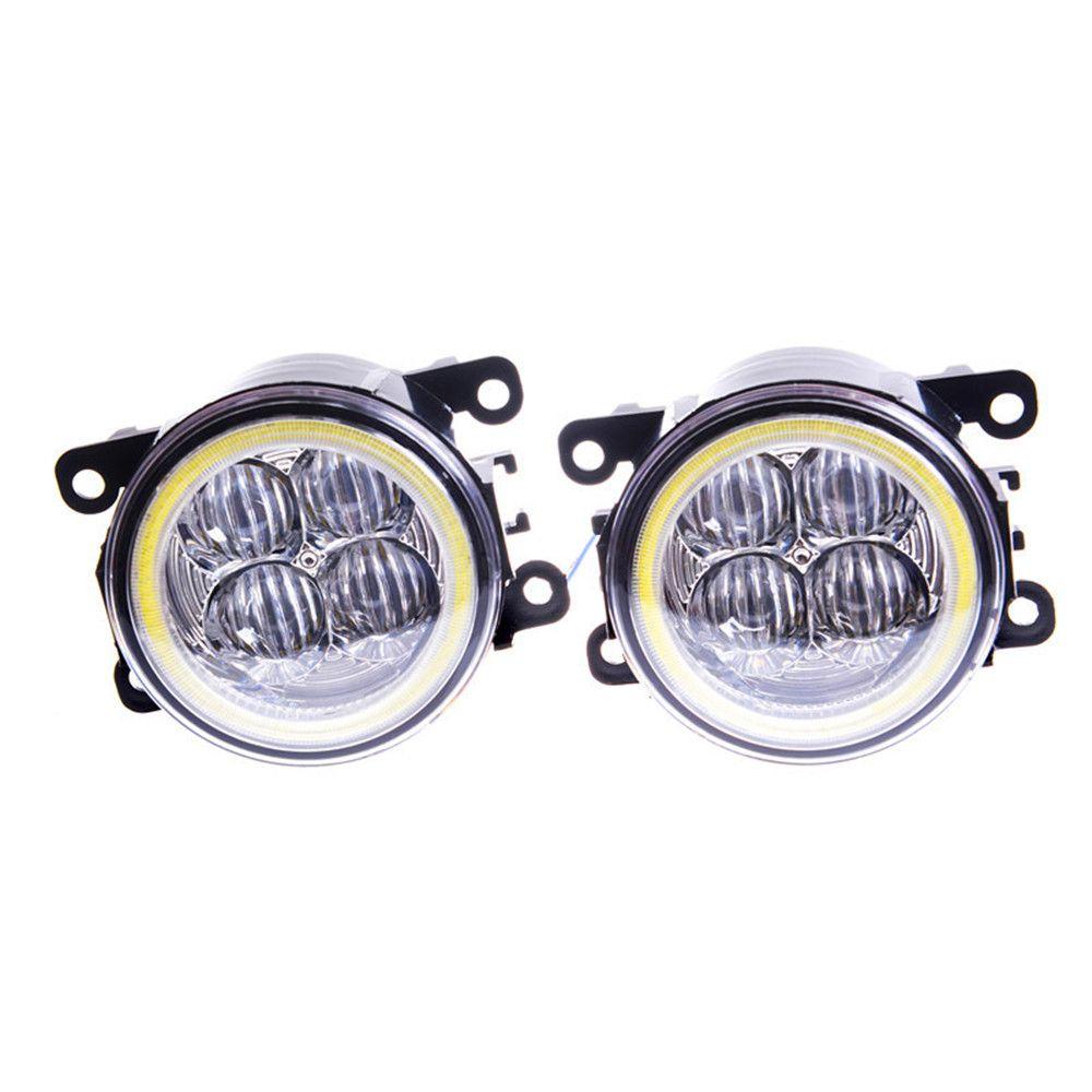 Fog Lamp Assembly Angel Eyes Fog Light For Renault Megane Duster Fluence Koleos Kangoo Thalia 2003-2015 Led Fog Lights 1set