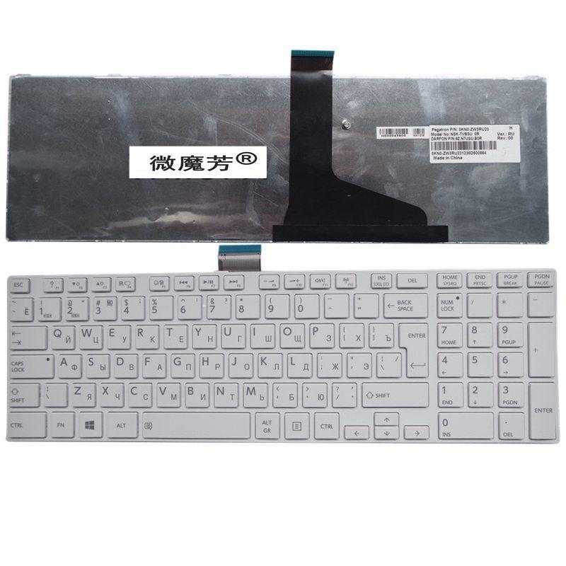 RU FOR TOSHIBA C850 C855 C855D L850 L850D L855 L850 L855 L870 L850-T01R P850 S850 S855D white New Laptop Keyboard Russian