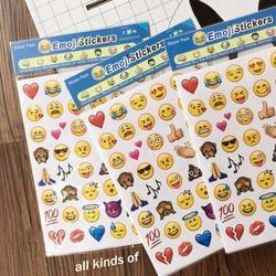 4 Lembar Stiker Hot Cinta Die Emoji Emoji Senyum Wajah Untuk Notebook Pijat Notebook Laptop Sticker Decal Lucu Dekorasi Stiker