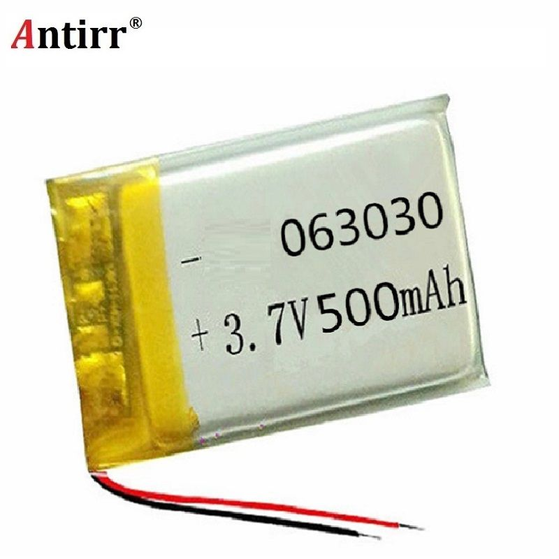 500mAh 3.7V rechargeable battery 603030 li polymer lithium battery li-on for MP3 MP4 GPS DVD recorder e-book camera free shiping
