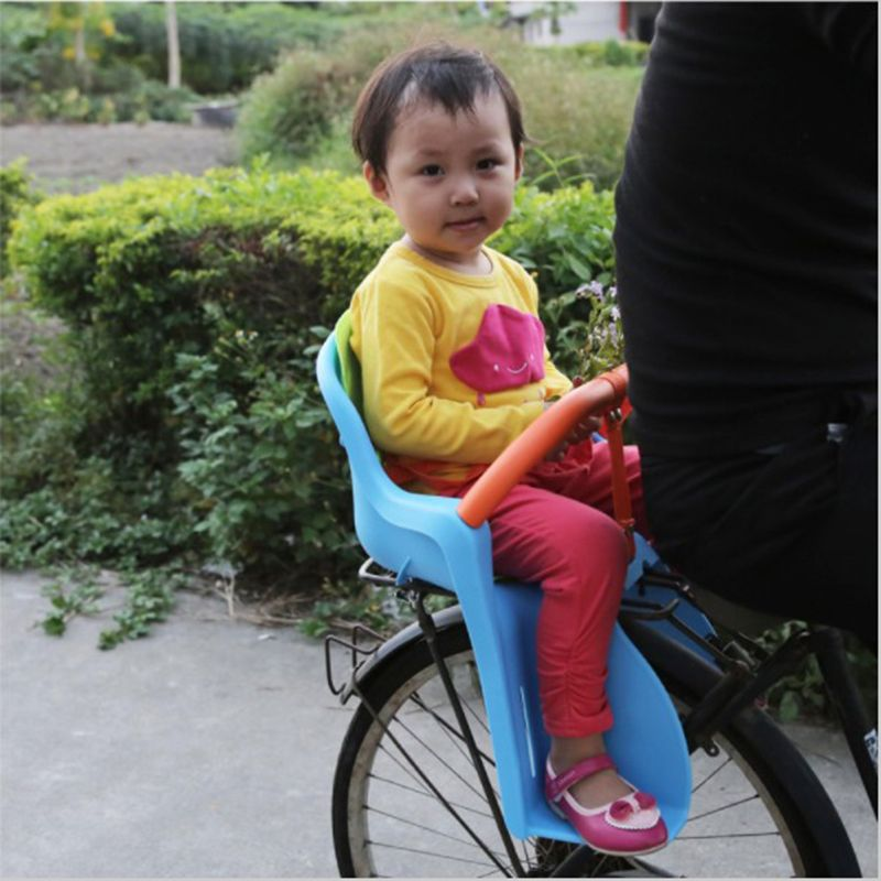 Baby Children Kids Bicycle Bike Chair for Bicycle Saddle Children Back Seat Traveling Set with Protection Seat Belt Handle Bar