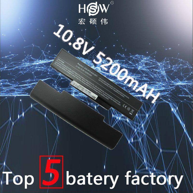 HSW battery for Asus li-ion A32-K72 A32-N71 K72DR K72 K72D K72F K72JR K73 K73SV K73S K73E N73SV X77X77VN k72-100 X77V bateria