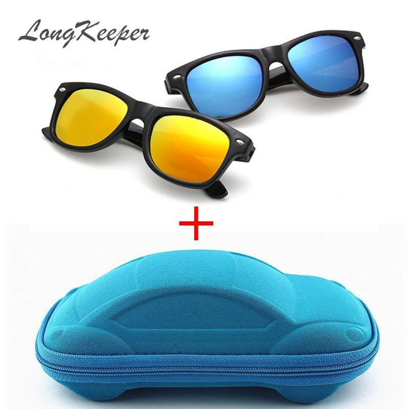 LongKeeper Cool Sunglasses for Kids Sun Glasses for Children Boys Girls Sunglass UV 400 Protection with Case Children Gift