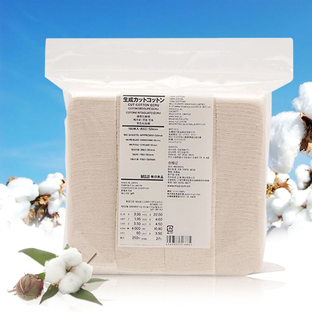 Original Japanese Organic Cotton MUJI 180Pcs Huge Vapor Eletronic Cigarettes Vape Cotton For RDA RBA DIY Atomizer Coil Wick