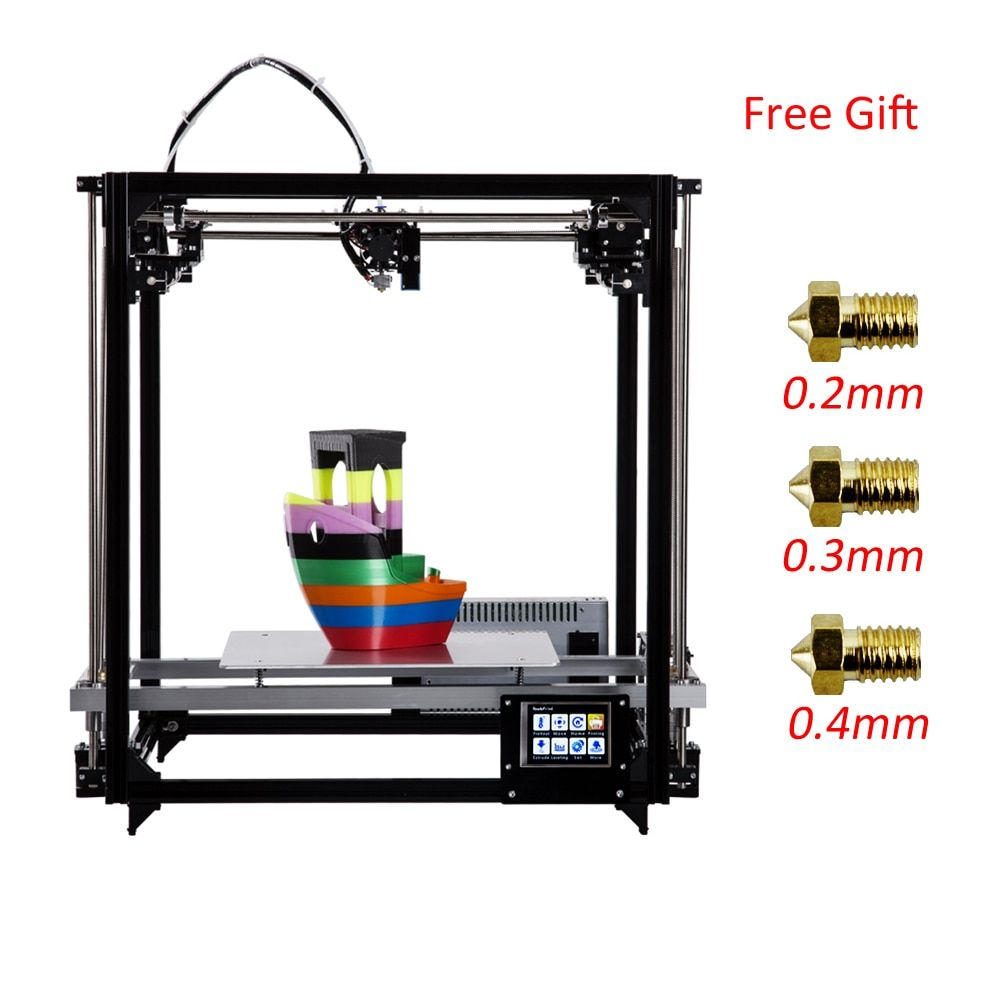 Flsun Square 3D Printer Kit Large Printing Area 260*260*350mm 3D Printer Heated Bed 3.2 Inch Touch Screen Two Rolls Filament