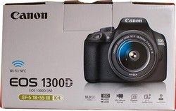 New Canon EOS 1300D Rebel T6 DSLR Wi-Fi Camera with 18-55mm III Lens