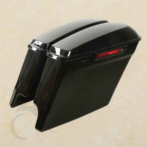 Extended Stretched Saddlebags With Black Latch + Keys For Harley Electra 14-18 Motorcycle