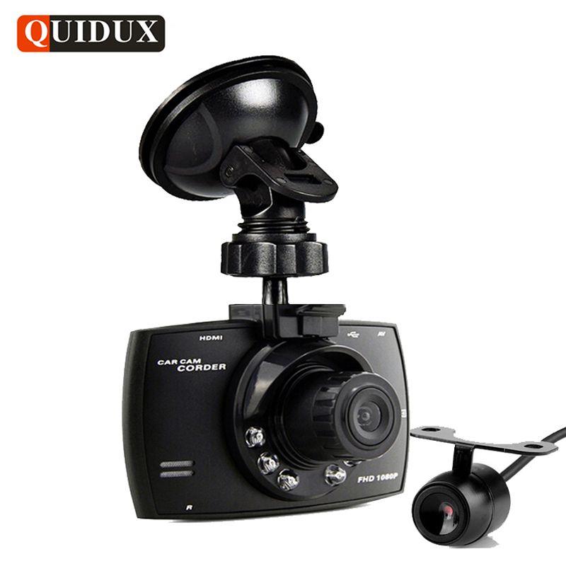 QUIDUX Dual lens G30 Car DVR Camera HD 1080P Video Recorder DVRs Night Vision Auto Dash cam Veicular Kamera two cameras Logger