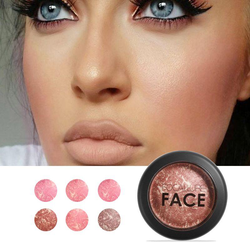 Focallure Cuit Blush Visage Maquiagem Doux Lisse Minéralisent Maquillage Blush Palette Bronzer Blush 6 couleurs pour choisir