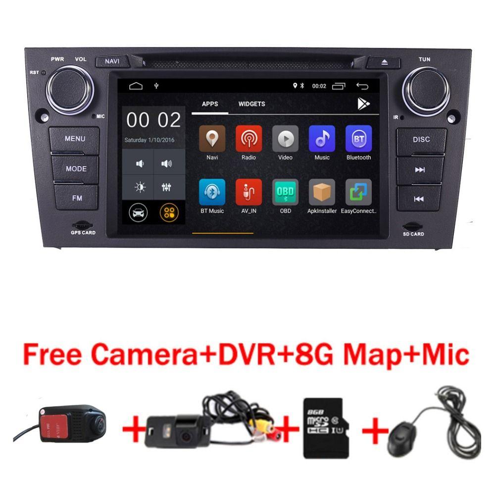 2019 neueste Android 9.0 Auto DVD Player für BMW E90 E91 E92 radio stereo Wifi 3G Bluetooth USB SD OBD spiegel Kostenloser Kamera + 8 GB karte