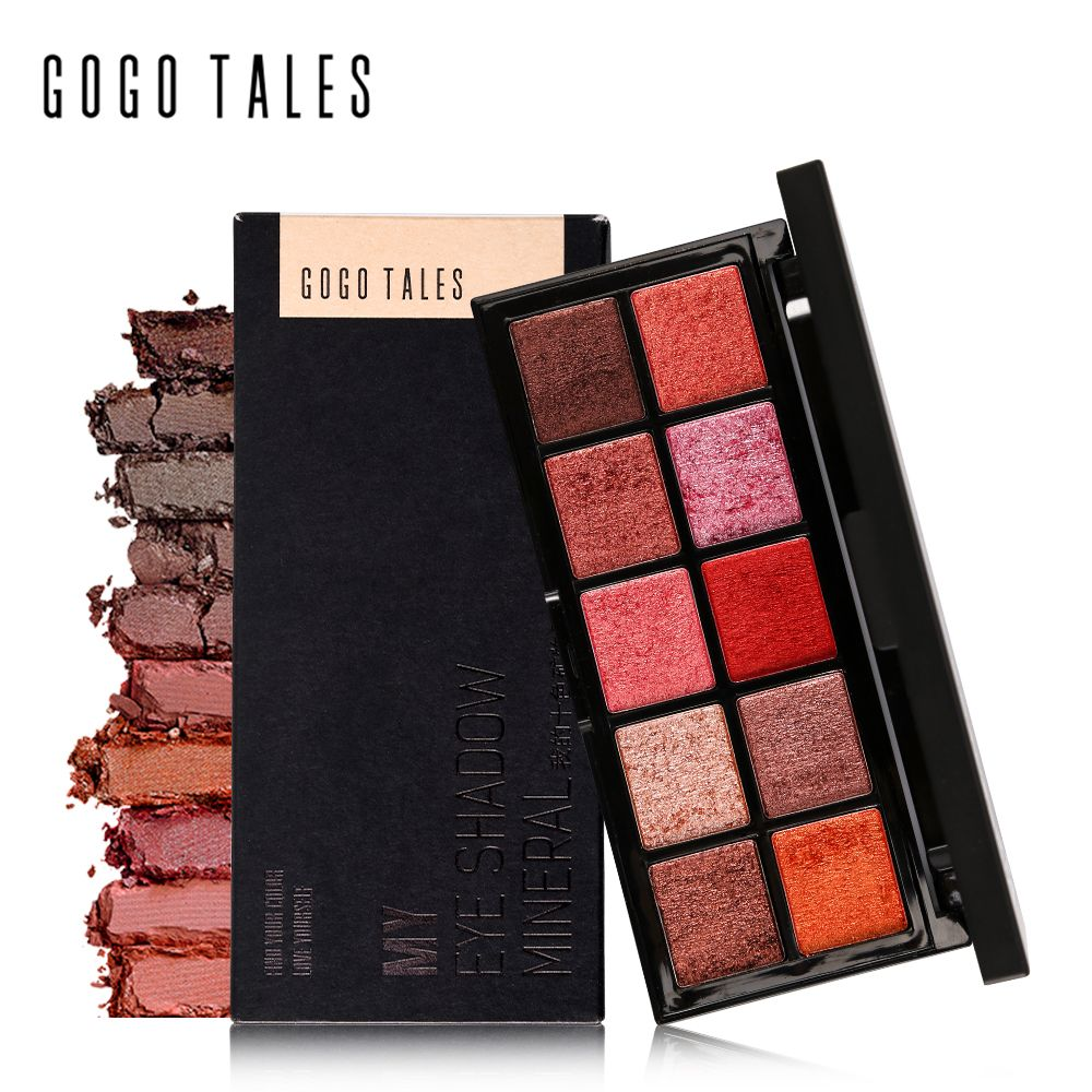 GOGO CUENTOS Mineral de Maquillaje Profesional 10 Colores Mate Paleta de Sombra Nautral Caliente Desnuda Tierra de Sombra de Ojos Paleta Maquiagem