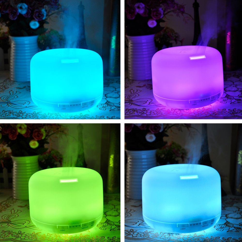 Led Lumière 300 ml Ultrasons Humidificateur D'air Huile Essentielle Diffuseur Arôme Lampe Aromathérapie Électrique Aroma Diffuseur Mist Maker chaud