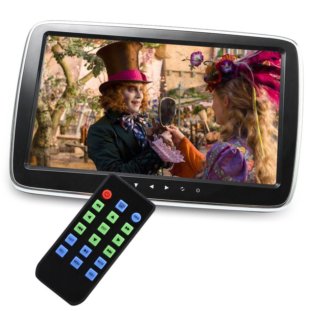 1017E Full HD External Headrest Monitors Car Multi-media MP5 Player Support AV-in/FM/Hi-Fi Stereo/TF/USB Music Movie Play