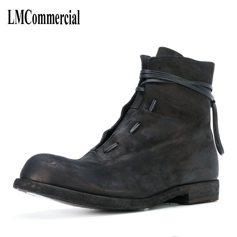 men Martin boots winter new trend male British Korean men short canister boots leather shoes breathable fashion men casual shoes