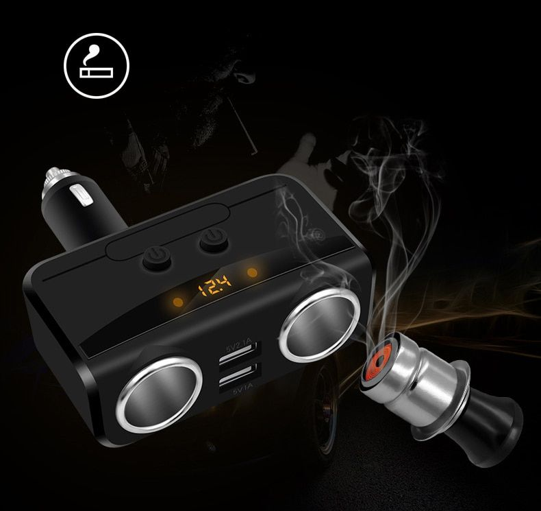 BIBOVI  Lighter Dual USB 2 Way Auto Sockets Car Adapter Splitter 5V 3.1A  car charger cigarette lighter socket splitter