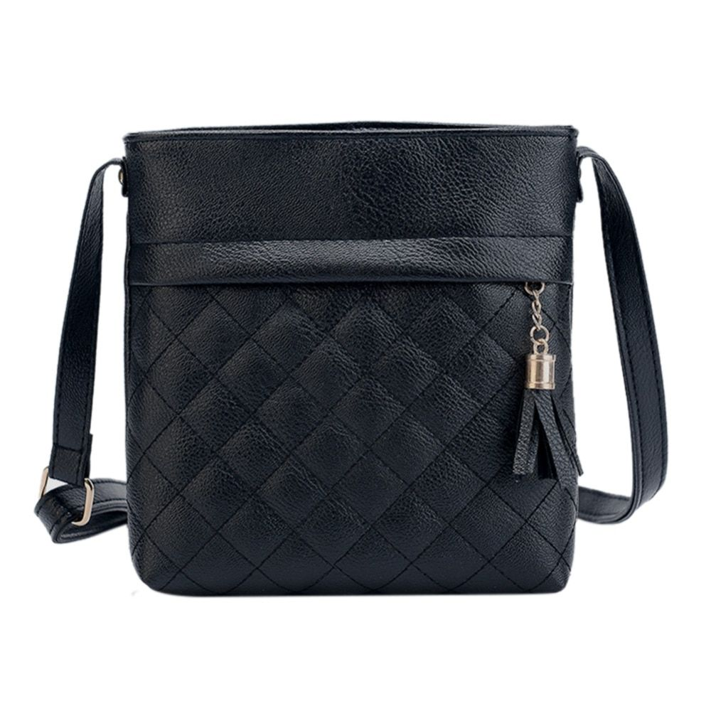 2019 Fashion Small Tassel Bag Women Messenger Bags Lattice Ladies Crossbody Bag Soft PU Leather Mini Handbag Bolsa Feminina