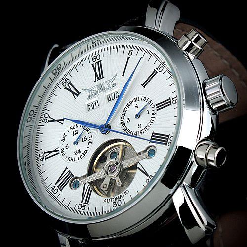 JARAGAR Full Calendar Tourbillon Auto Mechanical Mens Watches Top Brand Luxury Wrist Watch erkek kol saati Montre Homme