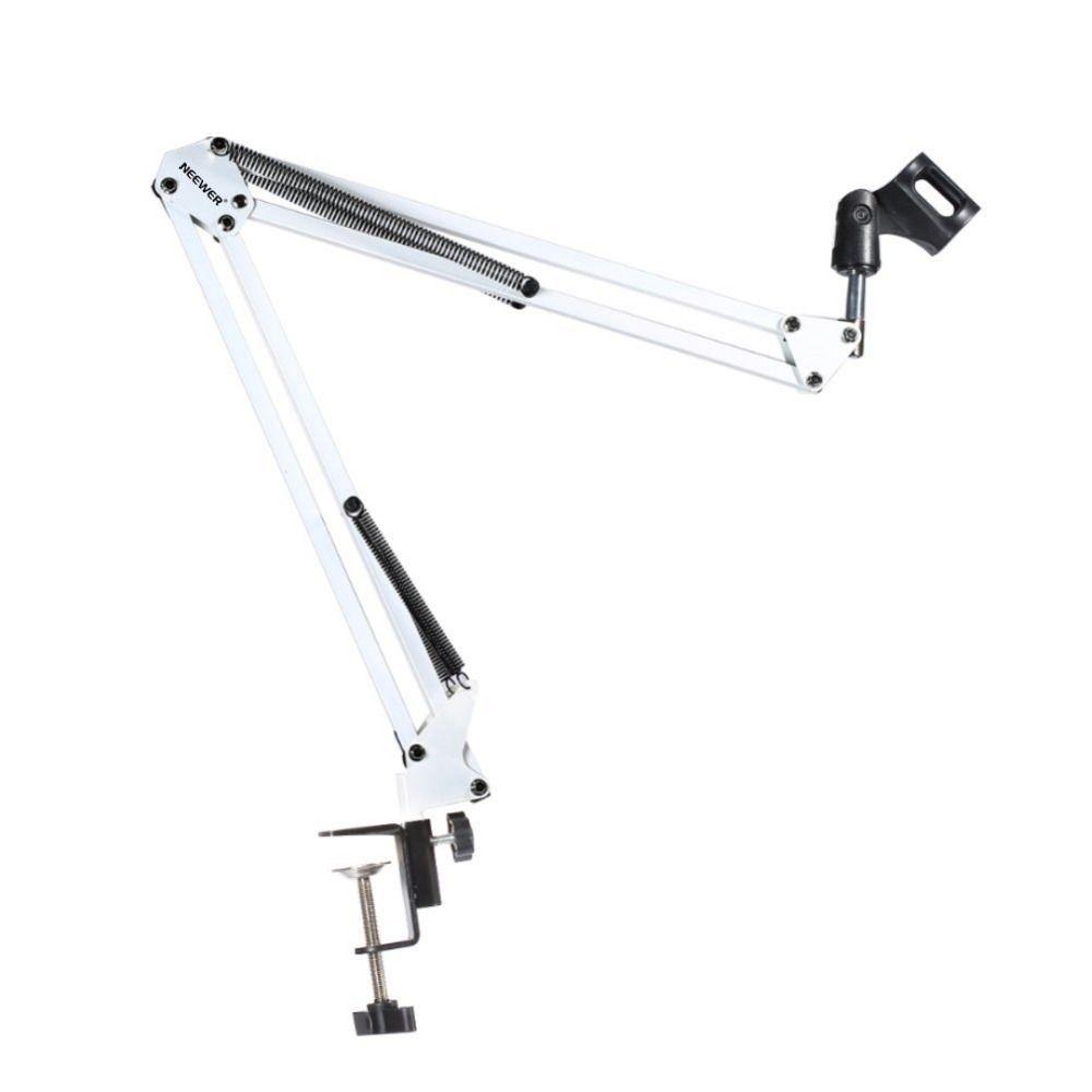 NEEWER blanc radiodiffusion Studio Microphone Suspension Boom bras ciseaux support, étendu jusqu'à 80cm (31.5 )