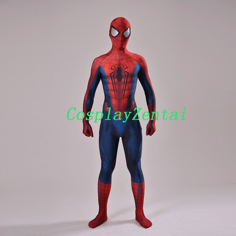 Concept Art Spider-man Cosplay Halloween Costume 3D Conception Spiderman Costume avec Eye Lentilles