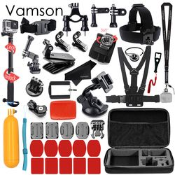 Vamson for Gopro Hero 5 Accessories Set For Gopro Hero 5 black hero 6 4 3+ session for xiaomi for SJCAM Accessories VS79