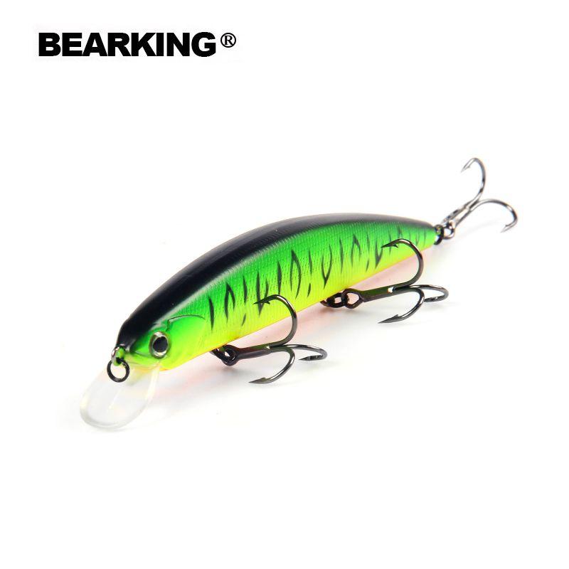 Bearking Un + 2017 modèle chaude leurres de pêche dur appât 10 couleur pour choisir 13 cm 21g minnow, qualité professionnel minnow depth1.8m