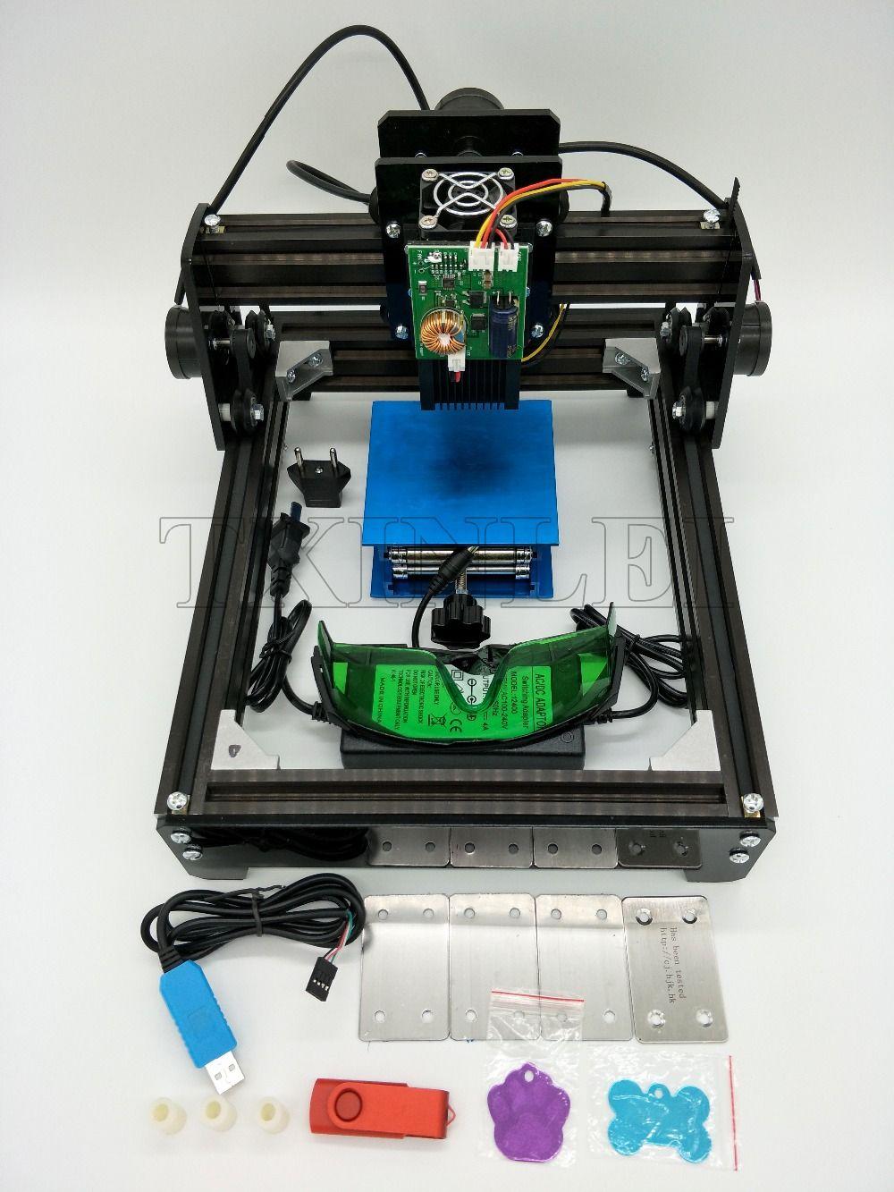 DIY USB Mini Laser Engraving Machine Engraver Cutting Marking Printer For Wood Leather Metal Stainless Steel Ceramics 10W 15W