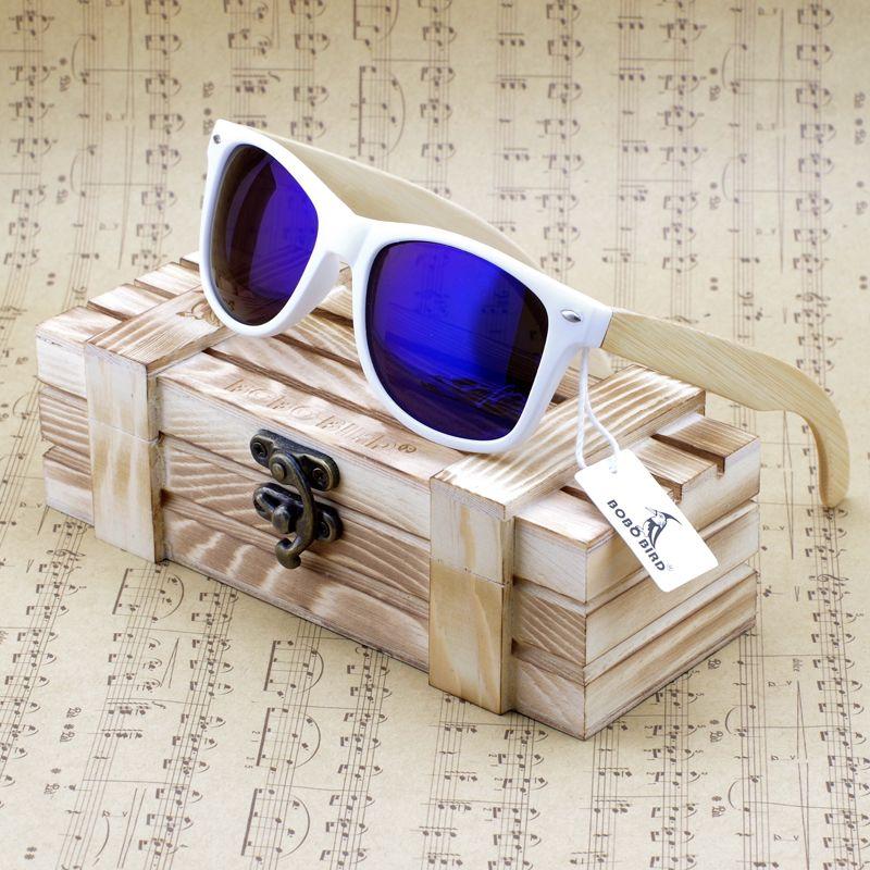 Бобо птица марка класса люкс с покрытием Солнцезащитные очки для женщин Для мужчин и Для женщин Древесины Бамбука Держатель Поляризованные...