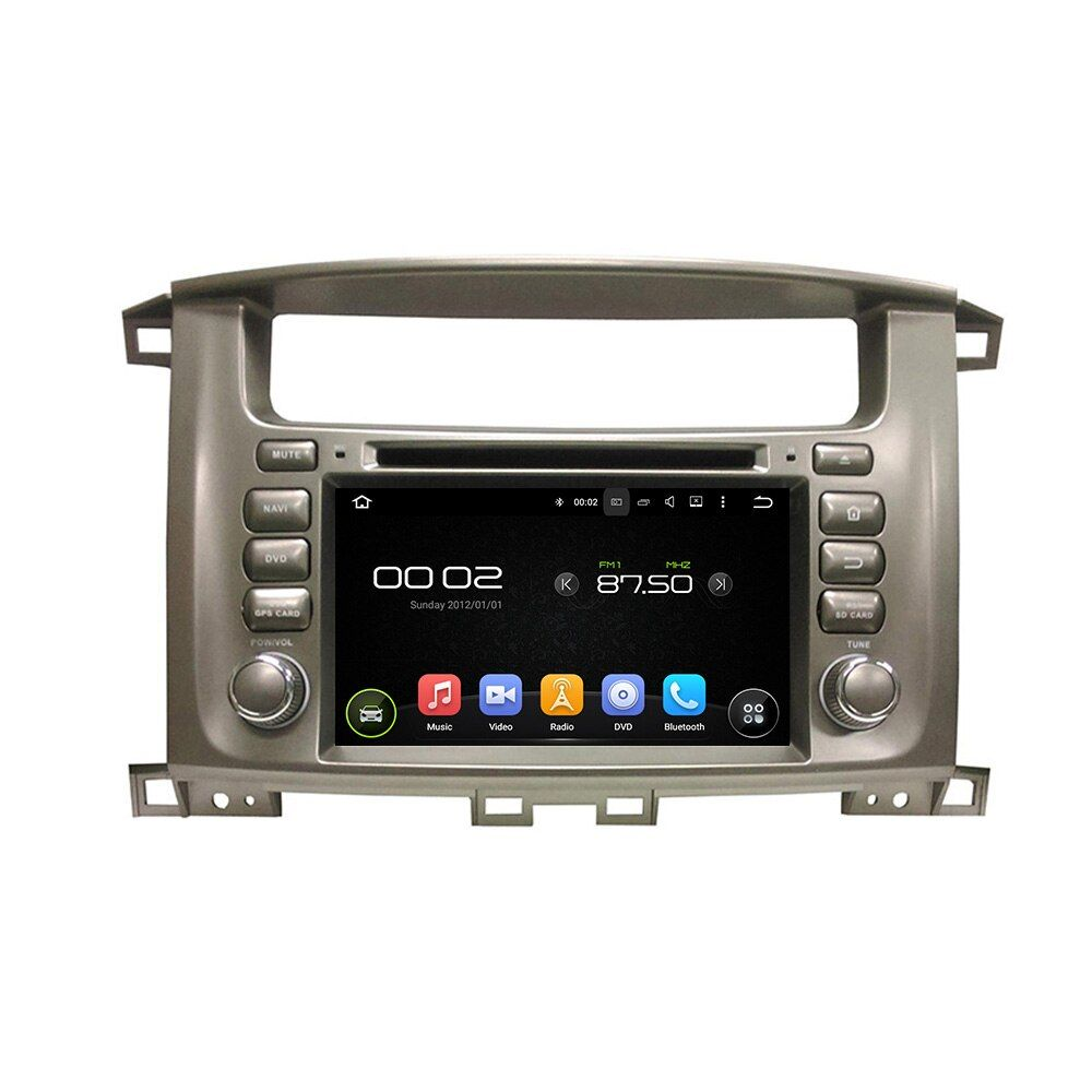 OTOJETA Android 8.0 car DVD player octa Core 4GB RAM 32GB rom for toyota Land Cruiser 100 LC100 tape recorder stereo head units