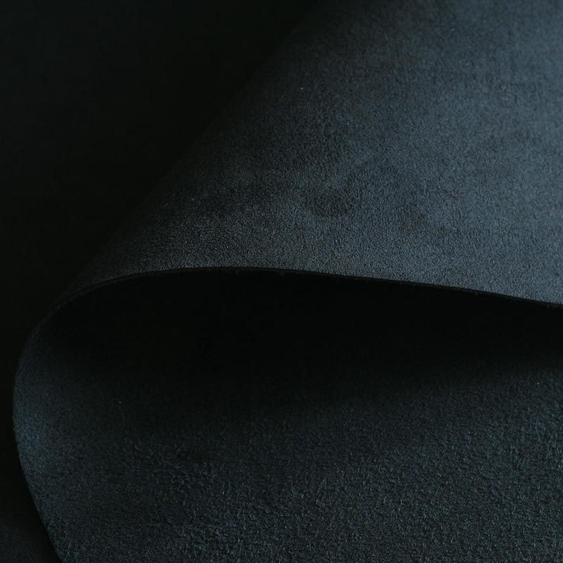 High-quality 0.8mm thickness black microfiber Super fiber Double plush Ultraleather Vinyl suede ultra fabrics raw material