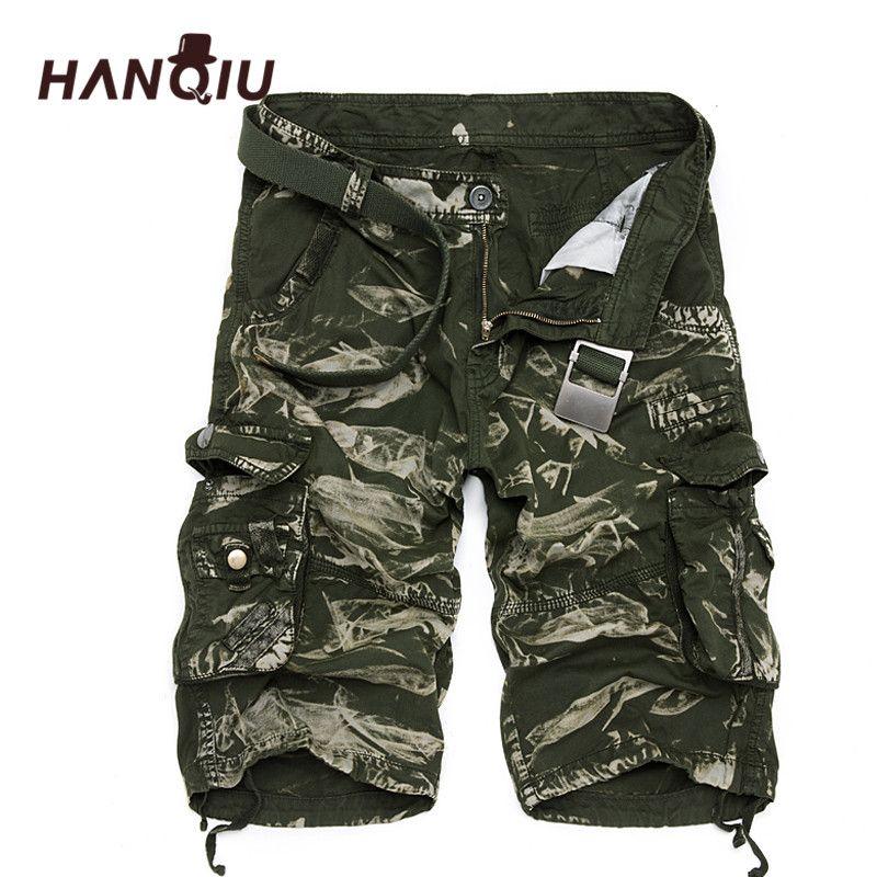 Military Cargo Shorts Men Summer Camouflage Pure Cotton Brand Clothing Comfortable Men <font><b>Tactical</b></font> Camo Cargo Shorts