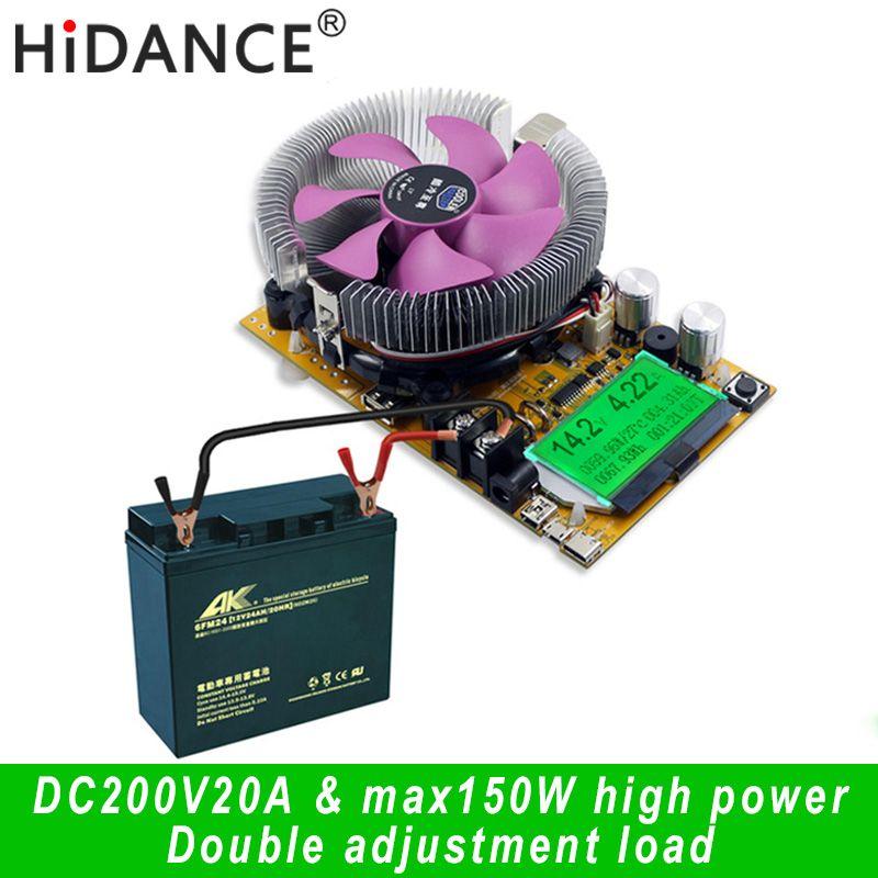 150 w Numérique batterie capacité testeur voltmètre réglable courant constant électronique charge chargeur usb ameter compteur indicateur