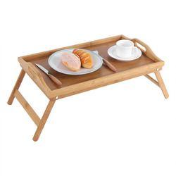 De Madera plegable cama de bambú bandeja de desayuno escritorio portátil té Mesa servir stand nuevo Soportes para el portátil titular