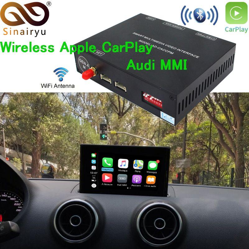 Aftermarket Adapter Multimedia A6 C7 MMI Kleinen Bildschirm OEM Drahtlose Apple CarPlay Lösung Retrofit mit Reverse Kamera für Audi