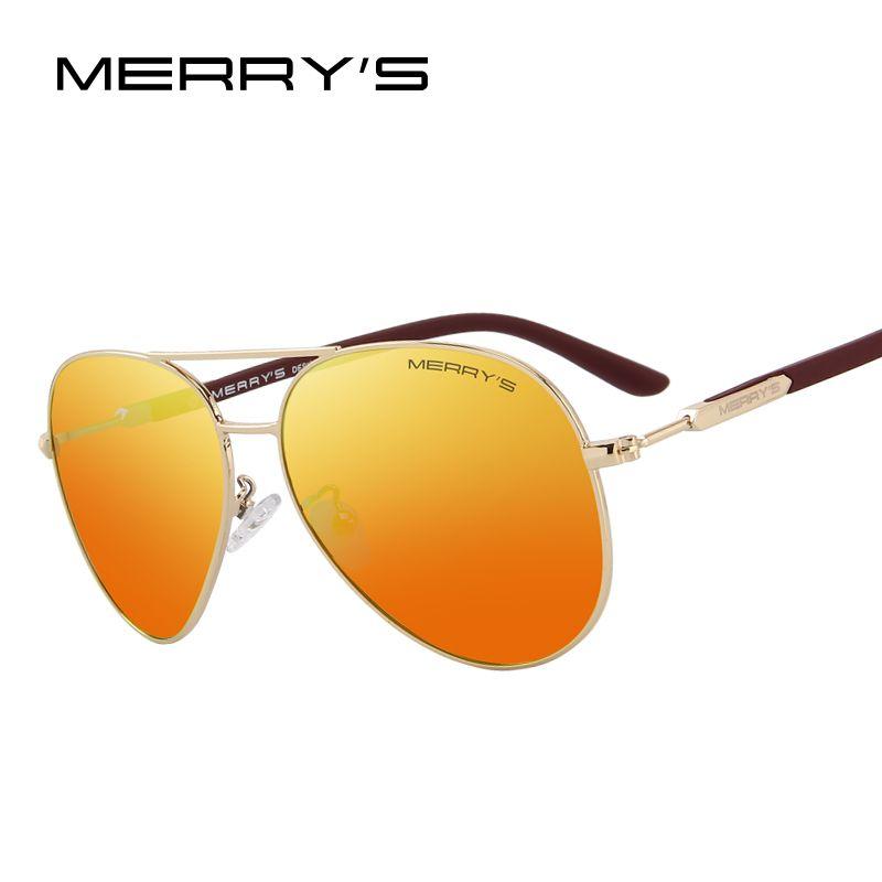 MERRY'S DESIGN <font><b>Men</b></font>/Women Classic Pilot Polarized Sunglasses 100% UV Protection S'8058