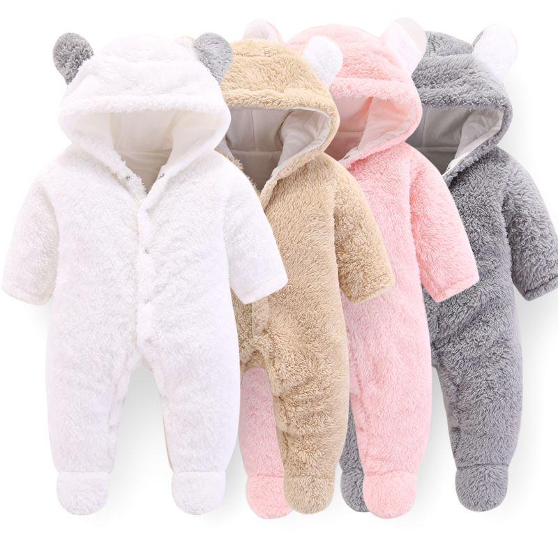 Orangemom officiel nouveau-né bébé vêtements d'hiver infantile bébé filles vêtements doux polaire Outwear barboteuses nouveau-né-12 m garçon combinaison