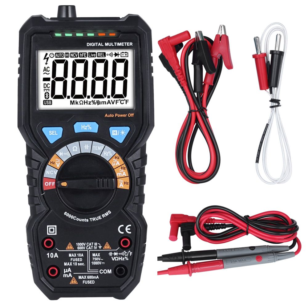 BSIDE ADM08 PRO Temperature Non-contact True RMS Value Digital Multimeter with Backlight Electrical Portable Detection Tool