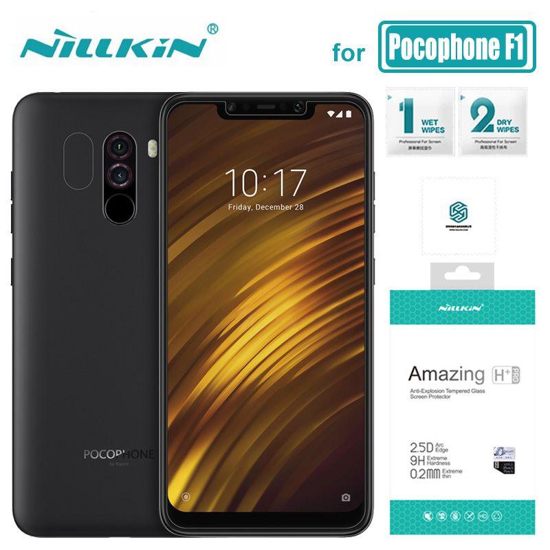 Xiaomi Pocophone F1 Verre Nillkin Ultra-mince H + Pro 2.5D Trempé Verre Poco F1 Écran Protecteur pour Pocophone f1 Nilkin Verre
