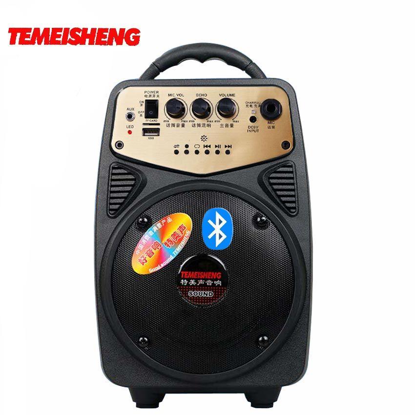 TEMEISHENG 30W Portable haute puissance sans fil Bluetooth haut-parleur soutien TF carte USB disque lecture AUX et Microphone entrée colonne