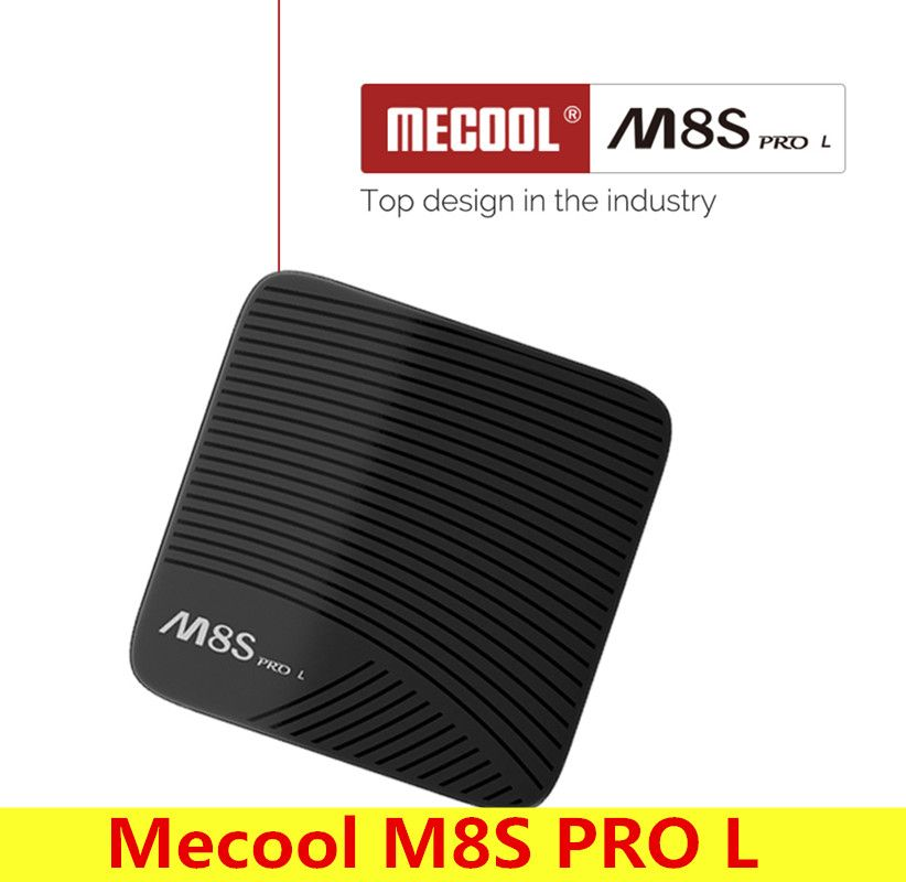 Mecool M8S PRO L Android 7.1 Smart TV Box Amlogic S912 Cortex-A53 CPU Set Top Box Bluetooth 4.1 Support 4 K Lecteur Multimédia 100 M