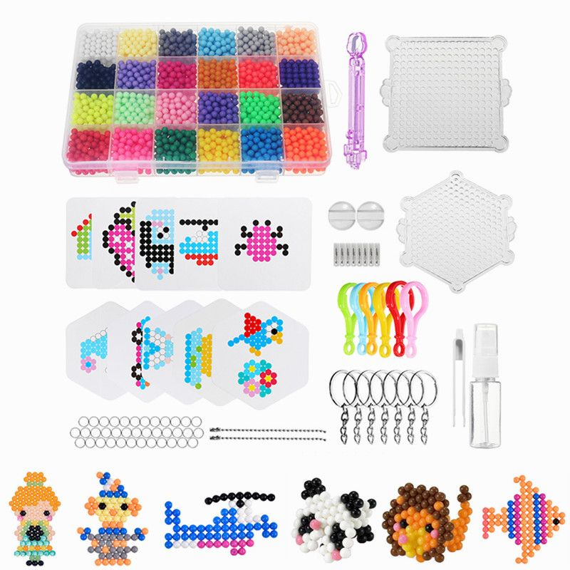 24 Colors 3000pcs Water Spray Magic Beads DIY Kit Ball Puzzle Game Fun DIY handmaking 3D puzzle Educational Toys For Children