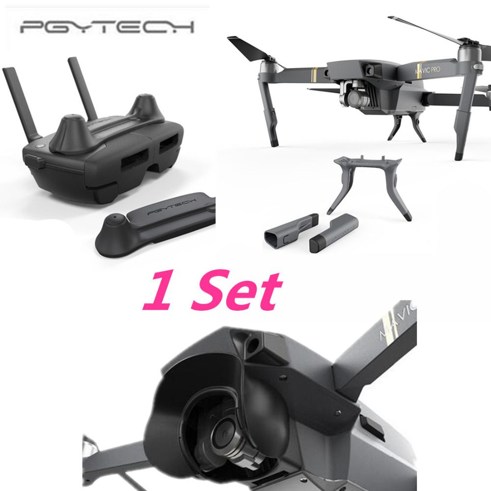 PGYTECH 1 Set Thumb Stick Guard Rocker Protector Holder Extended Landing Gear Leg amera Protector Sun Shade for DJI MAVIC PRO