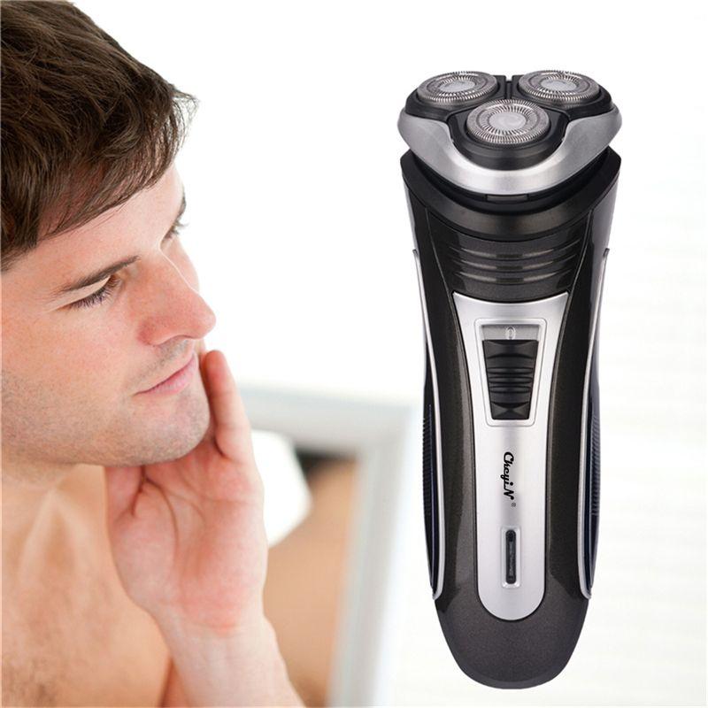 3D Triple flottant lame têtes Rechargeable électrique rasoir hommes rasage Machine rasoirs soins du visage tondeuse à barbe Barbeador 4546